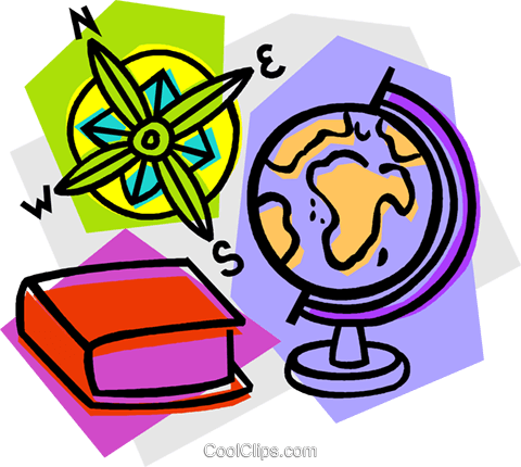 school project, geography Royalty Free Vector Clip Art illustration vc011061