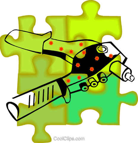 rivet gun Royalty Free Vector Clip Art illustration vc011074