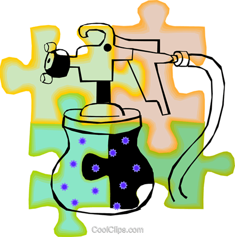 paint sprayer Royalty Free Vector Clip Art illustration vc011092