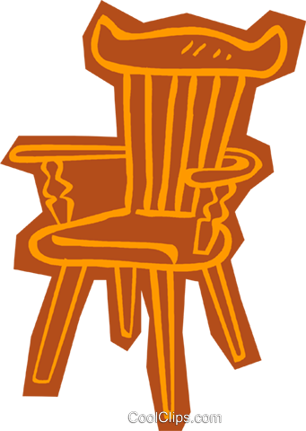 chair Royalty Free Vector Clip Art illustration vc011094