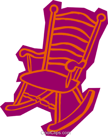 rocking chair Royalty Free Vector Clip Art illustration vc011100