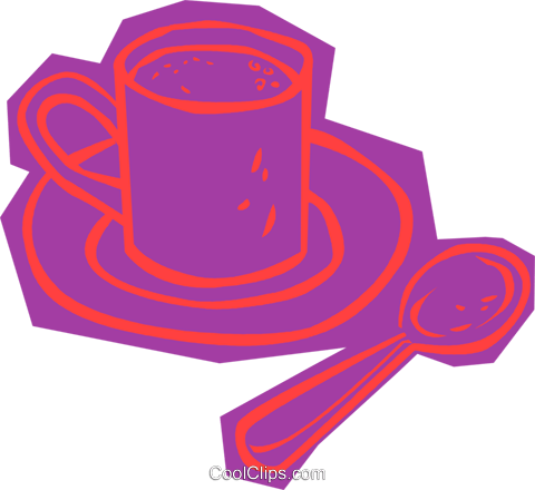 cup of coffee Royalty Free Vector Clip Art illustration vc011109