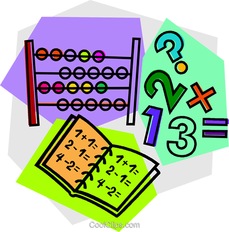 abacus with work book Royalty Free Vector Clip Art illustration vc011112