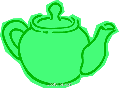 teapot Royalty Free Vector Clip Art illustration vc011113