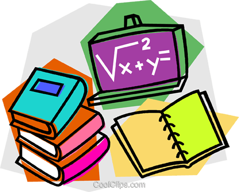 school project, mathematics Royalty Free Vector Clip Art illustration vc011114