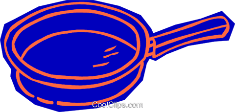 frying pan Royalty Free Vector Clip Art illustration vc011115