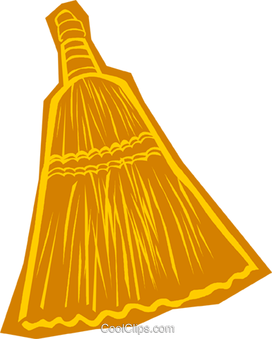 broom Royalty Free Vector Clip Art illustration vc011119