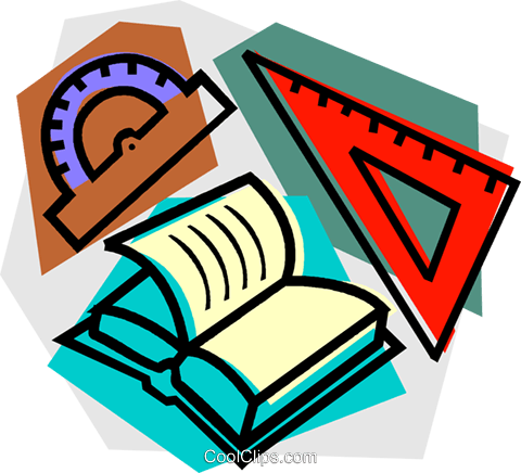school project, mathematics Royalty Free Vector Clip Art illustration vc011120