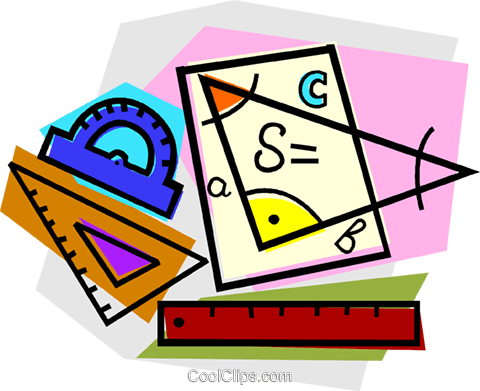school project, mathematics Royalty Free Vector Clip Art illustration vc011122