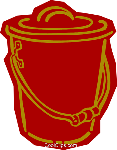 pail Royalty Free Vector Clip Art illustration vc011123