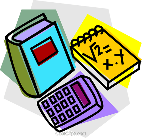 school project, mathematics Royalty Free Vector Clip Art illustration vc011124