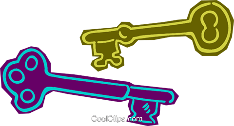 keys Royalty Free Vector Clip Art illustration vc011139