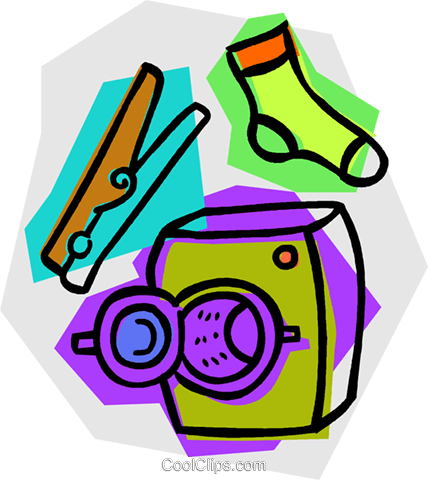laundry items Royalty Free Vector Clip Art illustration vc011145