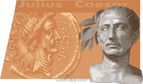 Julius Caesar Royalty Free Vector Clip Art illustration vc011159