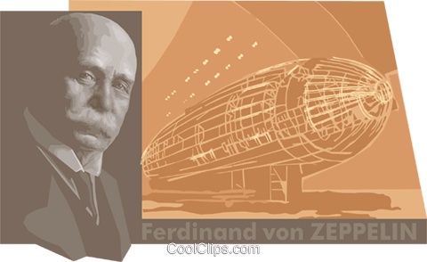 zeppelin Royalty Free Vector Clip Art illustration vc011160