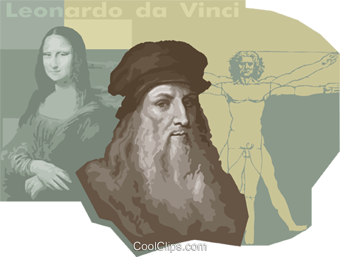 Leonardo de Vinci Royalty Free Vector Clip Art illustration vc011162