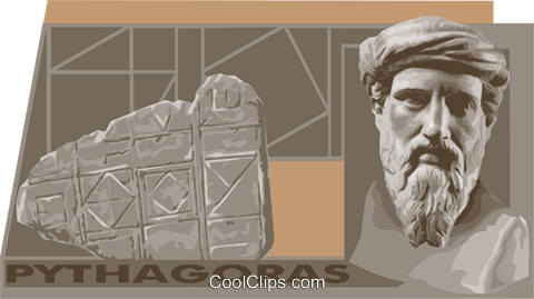 Pythagoras Royalty Free Vector Clip Art illustration vc011164