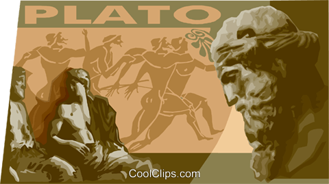 Plato statue Royalty Free Vector Clip Art illustration vc011166