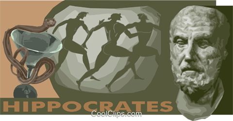 Historical person Hippocrates Royalty Free Vector Clip Art illustration vc011167