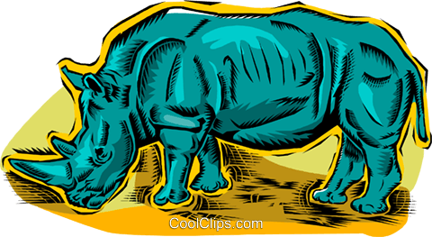 rhinoceros Royalty Free Vector Clip Art illustration vc011172