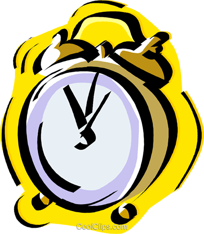 alarm clock Royalty Free Vector Clip Art illustration vc011177