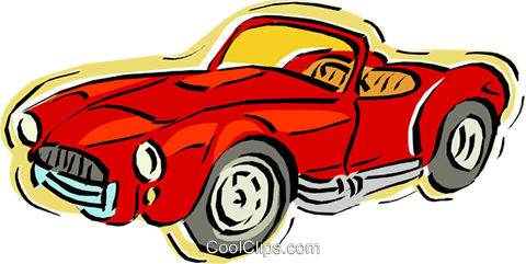 sports car Royalty Free Vector Clip Art illustration vc011183