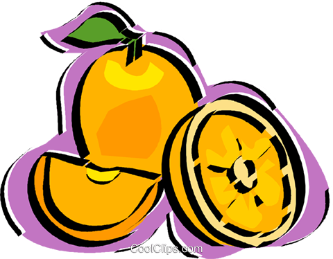 orange Royalty Free Vector Clip Art illustration vc011196