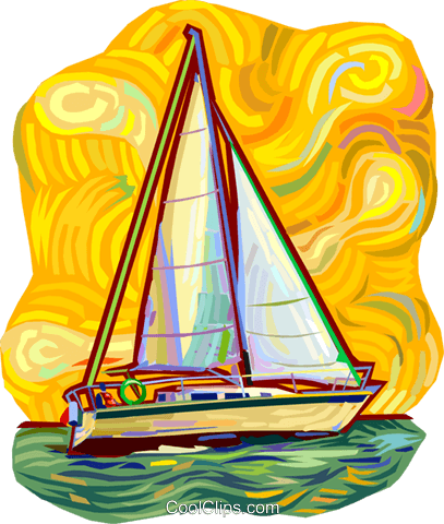 Sailboat Royalty Free Vector Clip Art illustration vc011197