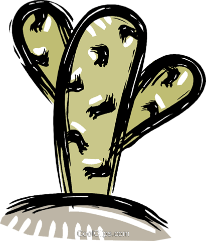 cactus Royalty Free Vector Clip Art illustration vc011205
