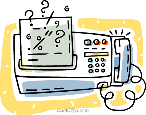 fax machine Royalty Free Vector Clip Art illustration vc011212