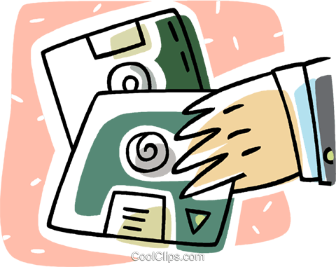 diskettes Royalty Free Vector Clip Art illustration vc011215