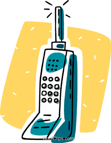 cellular phone Royalty Free Vector Clip Art illustration vc011217