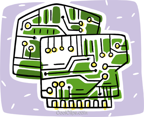 circuit boards Royalty Free Vector Clip Art illustration vc011223