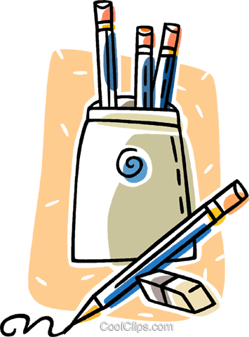 pencils Royalty Free Vector Clip Art illustration vc011242