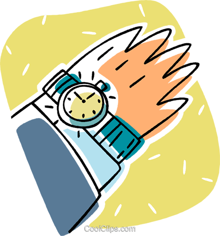 wristwatch Royalty Free Vector Clip Art illustration vc011254