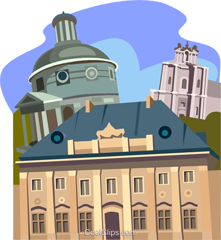 Warsaw, Poland, Church of the traveler Royalty Free Vector Clip Art illustration vc011268