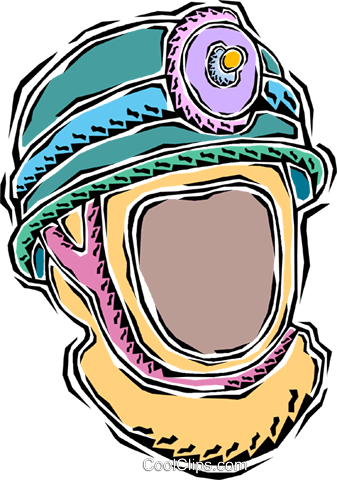 miner's safety helmet Royalty Free Vector Clip Art illustration vc011278