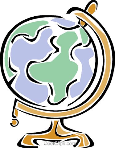globe Royalty Free Vector Clip Art illustration vc011281