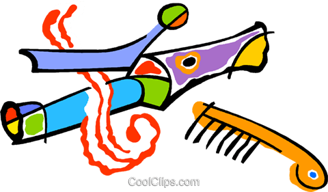 curling iron Royalty Free Vector Clip Art illustration vc011291