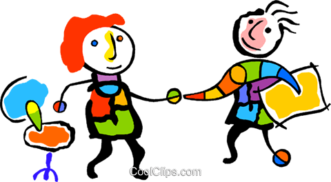 business partners shaking hands Royalty Free Vector Clip Art illustration vc011294