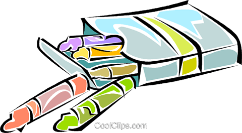 crayons Royalty Free Vector Clip Art illustration vc011296