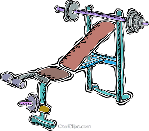 weight equipment Royalty Free Vector Clip Art illustration vc011299