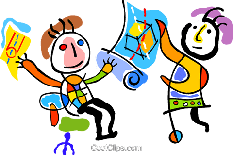 sharing ideas Royalty Free Vector Clip Art illustration vc011300