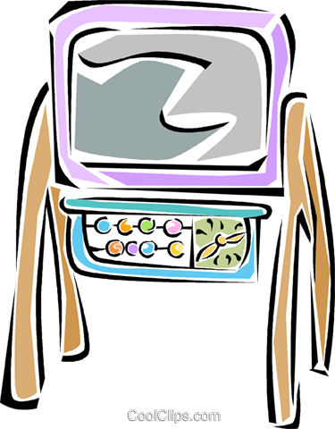 easel Royalty Free Vector Clip Art illustration vc011308