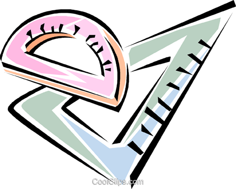 protractor, triangle Royalty Free Vector Clip Art illustration vc011325