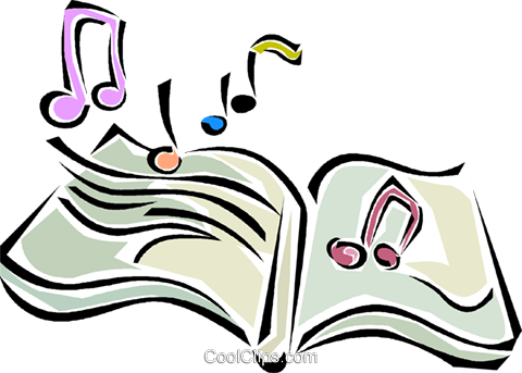 music book Royalty Free Vector Clip Art illustration vc011326
