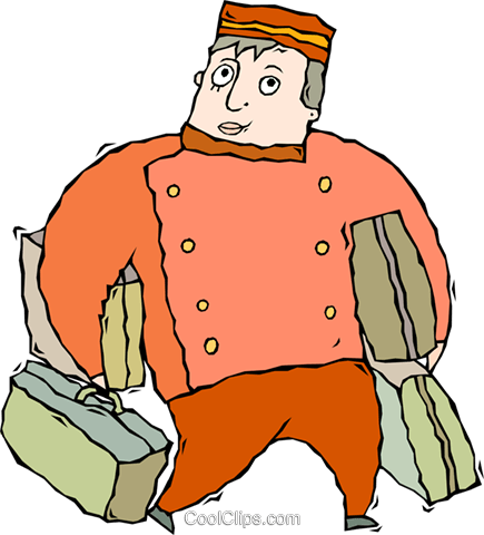 bell boy Royalty Free Vector Clip Art illustration vc011347