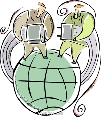 global communications Royalty Free Vector Clip Art illustration vc011358