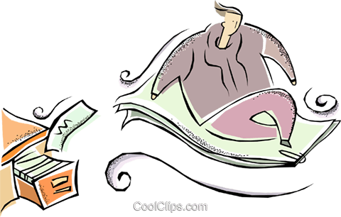 magic carpet Royalty Free Vector Clip Art illustration vc011360