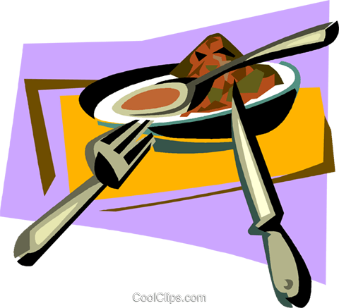 bowl of soup Royalty Free Vector Clip Art illustration vc011378
